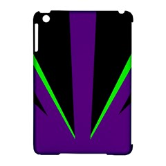 Rays Light Chevron Purple Green Black Line Apple Ipad Mini Hardshell Case (compatible With Smart Cover) by Mariart