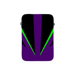Rays Light Chevron Purple Green Black Line Apple Ipad Mini Protective Soft Cases by Mariart