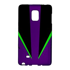 Rays Light Chevron Purple Green Black Line Galaxy Note Edge by Mariart