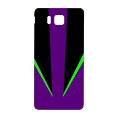 Rays Light Chevron Purple Green Black Line Samsung Galaxy Alpha Hardshell Back Case by Mariart
