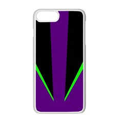 Rays Light Chevron Purple Green Black Line Apple Iphone 7 Plus White Seamless Case by Mariart