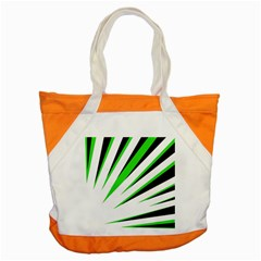 Rays Light Chevron White Green Black Accent Tote Bag by Mariart