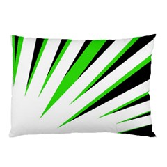 Rays Light Chevron White Green Black Pillow Case by Mariart