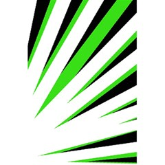 Rays Light Chevron White Green Black 5 5  X 8 5  Notebooks by Mariart