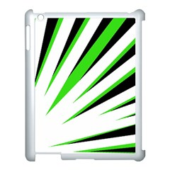 Rays Light Chevron White Green Black Apple Ipad 3/4 Case (white) by Mariart