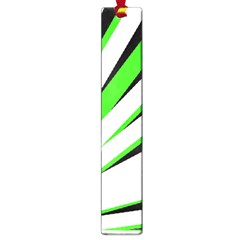 Rays Light Chevron White Green Black Large Book Marks by Mariart