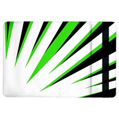 Rays Light Chevron White Green Black Ipad Air 2 Flip by Mariart