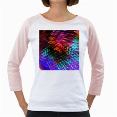 Rainbow Shake Light Line Girly Raglans