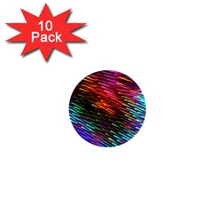 Rainbow Shake Light Line 1  Mini Buttons (10 Pack)