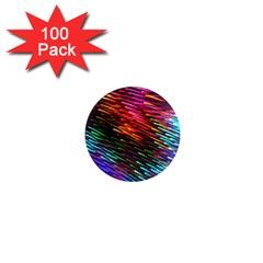 Rainbow Shake Light Line 1  Mini Magnets (100 Pack)  by Mariart