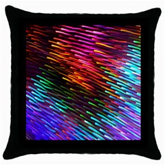 Rainbow Shake Light Line Throw Pillow Case (black)
