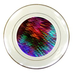 Rainbow Shake Light Line Porcelain Plates