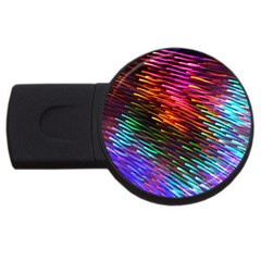 Rainbow Shake Light Line Usb Flash Drive Round (4 Gb) by Mariart