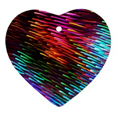 Rainbow Shake Light Line Heart Ornament (two Sides) by Mariart
