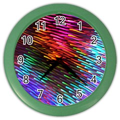 Rainbow Shake Light Line Color Wall Clocks