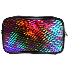 Rainbow Shake Light Line Toiletries Bags 2 Side by Mariart