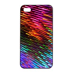 Rainbow Shake Light Line Apple Iphone 4/4s Seamless Case (black)