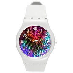 Rainbow Shake Light Line Round Plastic Sport Watch (m)