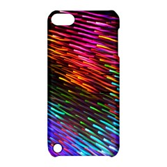 Rainbow Shake Light Line Apple Ipod Touch 5 Hardshell Case With Stand