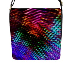 Rainbow Shake Light Line Flap Messenger Bag (l)