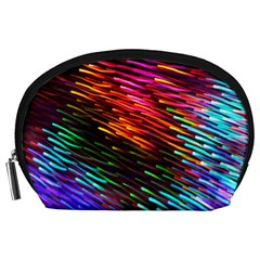Rainbow Shake Light Line Accessory Pouches (large)  by Mariart