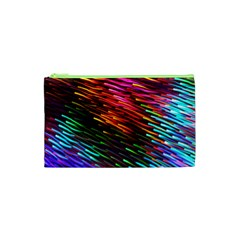 Rainbow Shake Light Line Cosmetic Bag (xs) by Mariart