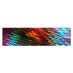Rainbow Shake Light Line Satin Scarf (oblong) by Mariart