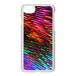 Rainbow Shake Light Line Apple iPhone 7 Seamless Case (White) Front