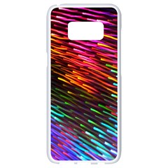 Rainbow Shake Light Line Samsung Galaxy S8 White Seamless Case
