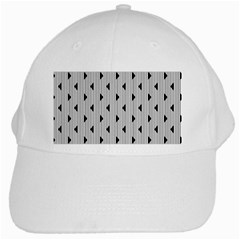 Stripes Line Triangles Vertical Black White Cap