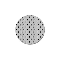 Stripes Line Triangles Vertical Black Golf Ball Marker