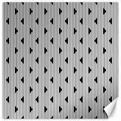 Stripes Line Triangles Vertical Black Canvas 12  X 12
