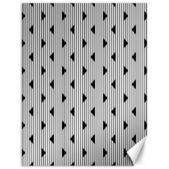 Stripes Line Triangles Vertical Black Canvas 12  X 16