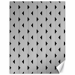 Stripes Line Triangles Vertical Black Canvas 18  X 24