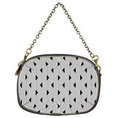 Stripes Line Triangles Vertical Black Chain Purses (one Side)