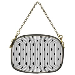 Stripes Line Triangles Vertical Black Chain Purses (two Sides)  by Mariart