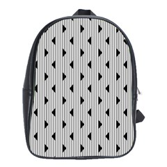 Stripes Line Triangles Vertical Black School Bags(large)