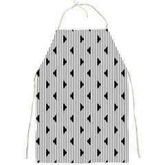 Stripes Line Triangles Vertical Black Full Print Aprons