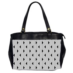 Stripes Line Triangles Vertical Black Office Handbags (2 Sides)  by Mariart