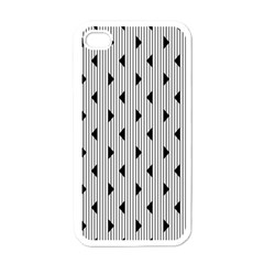 Stripes Line Triangles Vertical Black Apple Iphone 4 Case (white) by Mariart