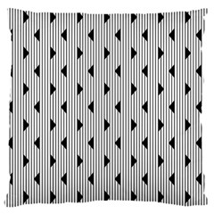 Stripes Line Triangles Vertical Black Large Cushion Case (one Side)