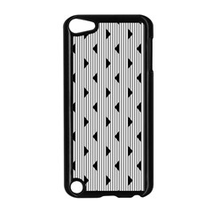 Stripes Line Triangles Vertical Black Apple Ipod Touch 5 Case (black)