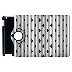 Stripes Line Triangles Vertical Black Apple Ipad 2 Flip 360 Case by Mariart