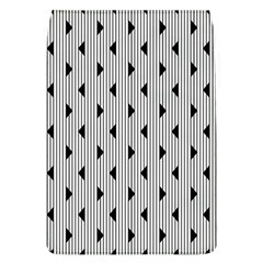 Stripes Line Triangles Vertical Black Flap Covers (l)