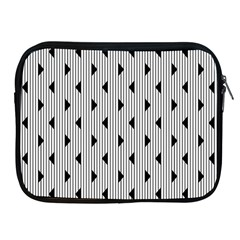 Stripes Line Triangles Vertical Black Apple Ipad 2/3/4 Zipper Cases