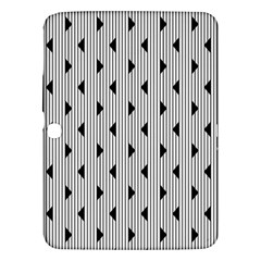 Stripes Line Triangles Vertical Black Samsung Galaxy Tab 3 (10 1 ) P5200 Hardshell Case