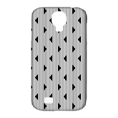 Stripes Line Triangles Vertical Black Samsung Galaxy S4 Classic Hardshell Case (pc+silicone)