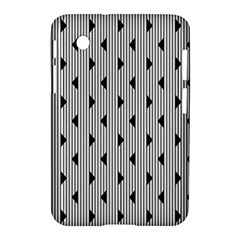 Stripes Line Triangles Vertical Black Samsung Galaxy Tab 2 (7 ) P3100 Hardshell Case