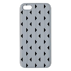 Stripes Line Triangles Vertical Black Iphone 5s/ Se Premium Hardshell Case
