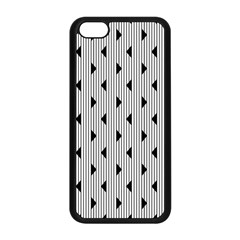 Stripes Line Triangles Vertical Black Apple Iphone 5c Seamless Case (black)